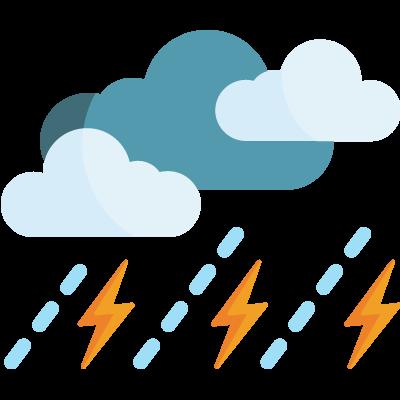 Temporale con pioggia